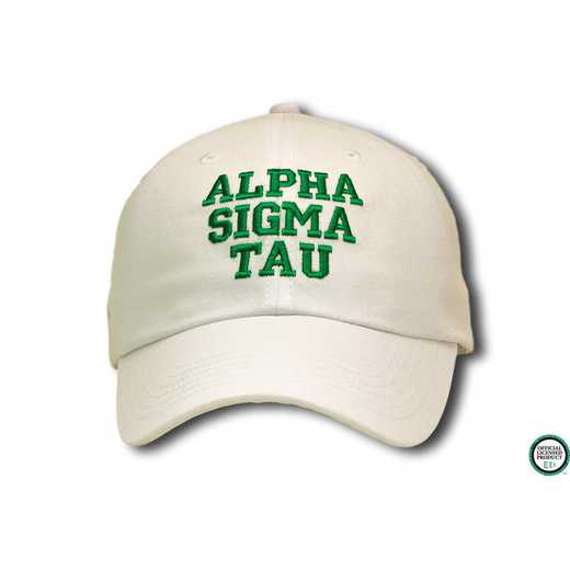 astcs1: Alpha Sigma Tau Athletic Baseball Cap-Nat/Green