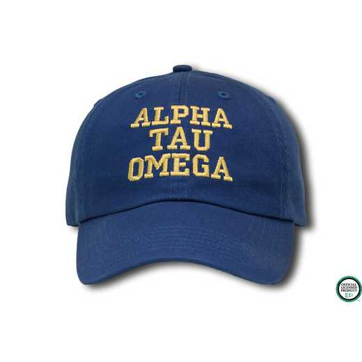atocs1: Alpha Tau Omega Athletic Baseball Cap- -Blue/Yllw