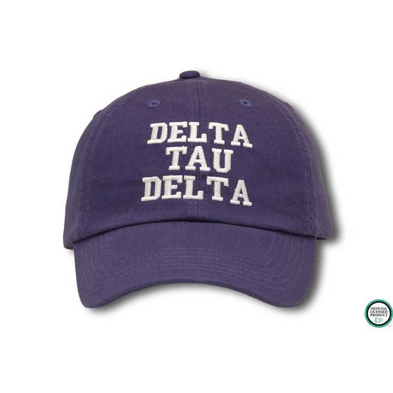 dtdcs1: Delta Tau Delta Athletic Baseball Cap-Blue/White
