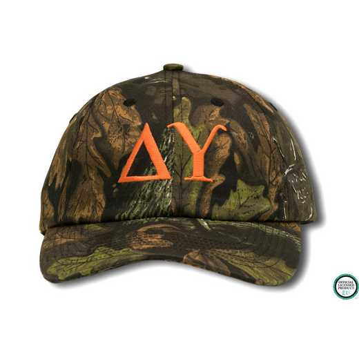 dugo1: Delta Upsilon Greek Letter Baseball Cap-Camo/Red