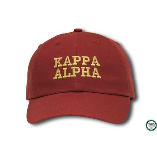 kacs1: Kappa Alpha Athletic Baseball Cap-Red/Yellow