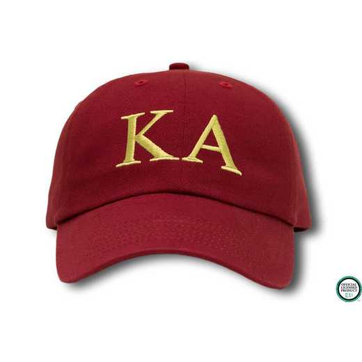 kago1: Kappa Alpha Greek Letter Baseball Cap-Red/Yellow