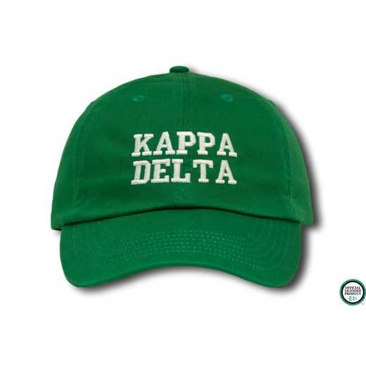 kdcs1: Kappa Delta Athletic Baseball Cap-Green/White