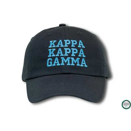 kkgcs1: Kappa Kappa Gamma Athletic Baseball Cap-Navy Blue/Lt Blue