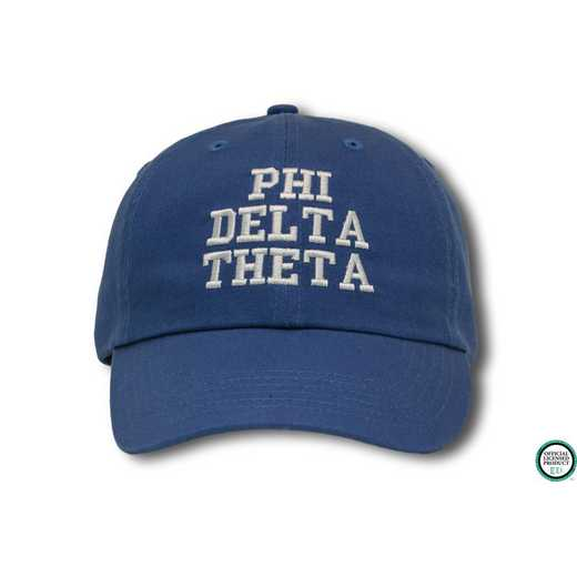 phidtcs2: Phi Delta Theta Athletic Baseball Cap-Blue/White