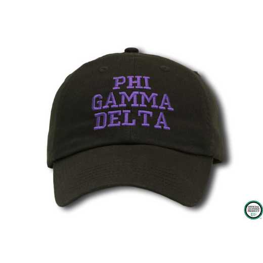 phigdcs1: Phi Gamma Delta Athletic Baseball Cap-Black/Purple