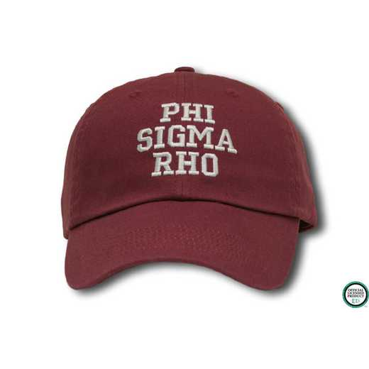 phisrcs1: Phi Sigma Rho Athletic Baseball Cap-Maroon/White