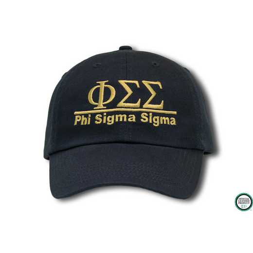 phiss1l1: Phi Sigma Sigma Line Design Baseball Cap-Black/Yellow