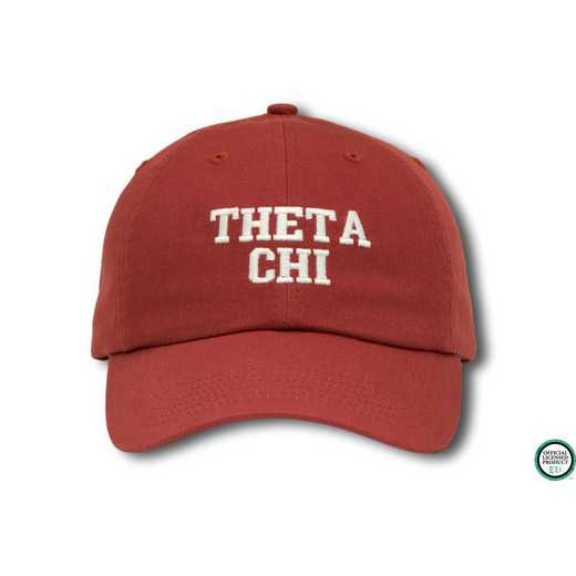 tchics1: Theta Chi Athletic Baseball Cap-Red/White