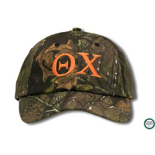 tchigo1: Theta Chi Greek Letter Baseball Cap-Camo/Red
