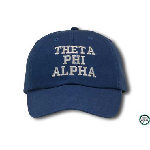 tphiacs1: Theta Phi Alpha Athletic Baseball Cap-Blue/White