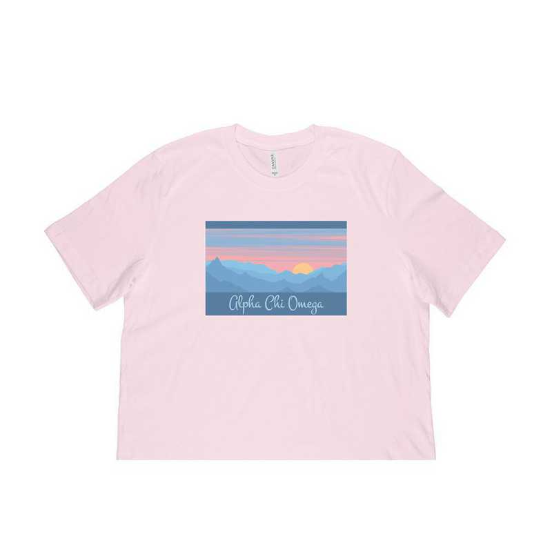 Alpha Chi Omega Mountain Scene T-Shirt