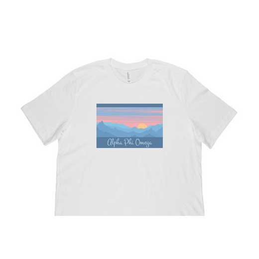 Alpha Phi Omega Mountain Scene T-Shirt