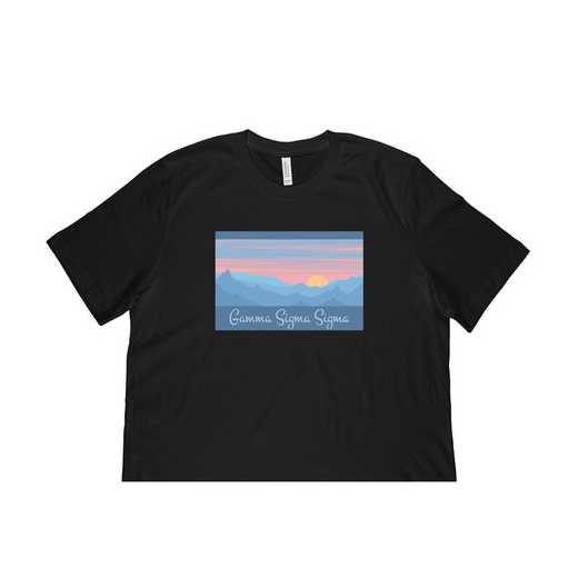 Gamma Sigma Sigma Mountain Scene T-Shirt-Black