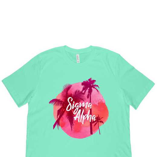 Sigma Alpha Tropical Palm Tree Sunset-Green