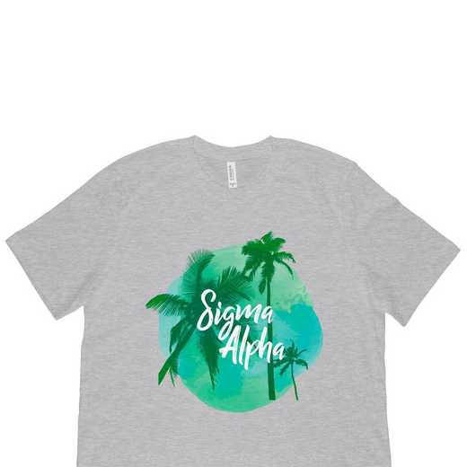 Sigma Alpha Tropical Palm Tree Sunset-Gray