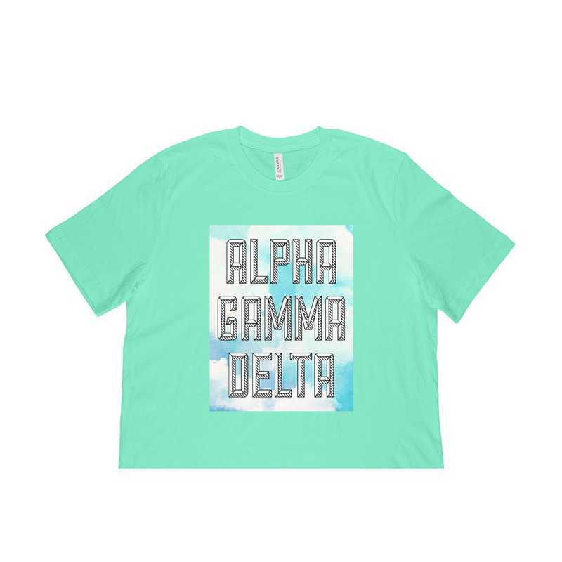 Alpha Gamma Delta Watercolor Sky T-Shirt-Green