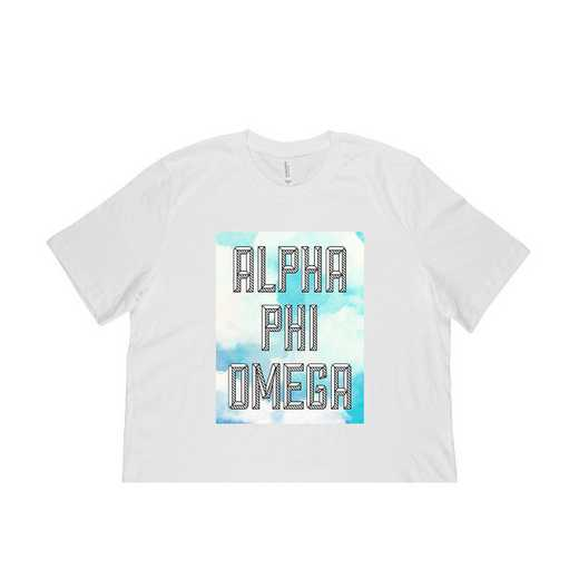 Alpha Phi Omega Watercolor Sky T-Shirt-White