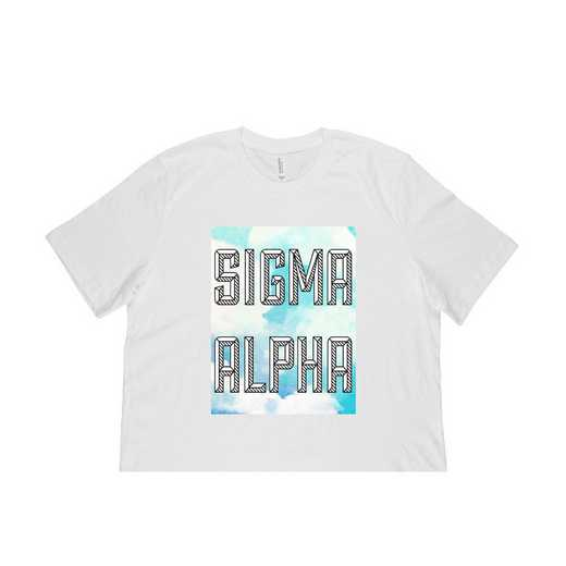 Sigma Alpha Watercolor Sky T-Shirt-White