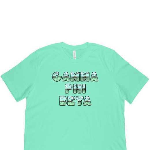 Gamma Phi Beta Spring Sunrise Bubble Font-Green