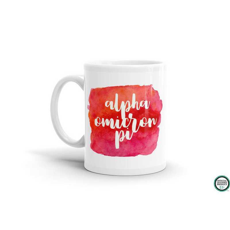 MG043: TS Alpha Omicron Pi Water Color Coffee Mug