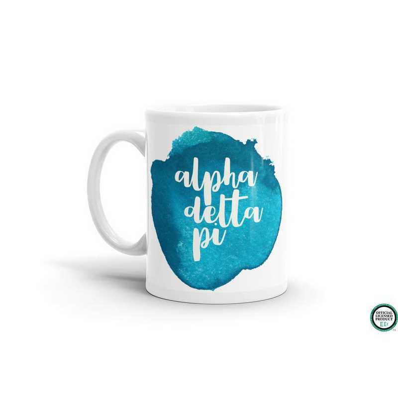 MG052: TS Alpha Delta Pi Water Color Coffee Mug
