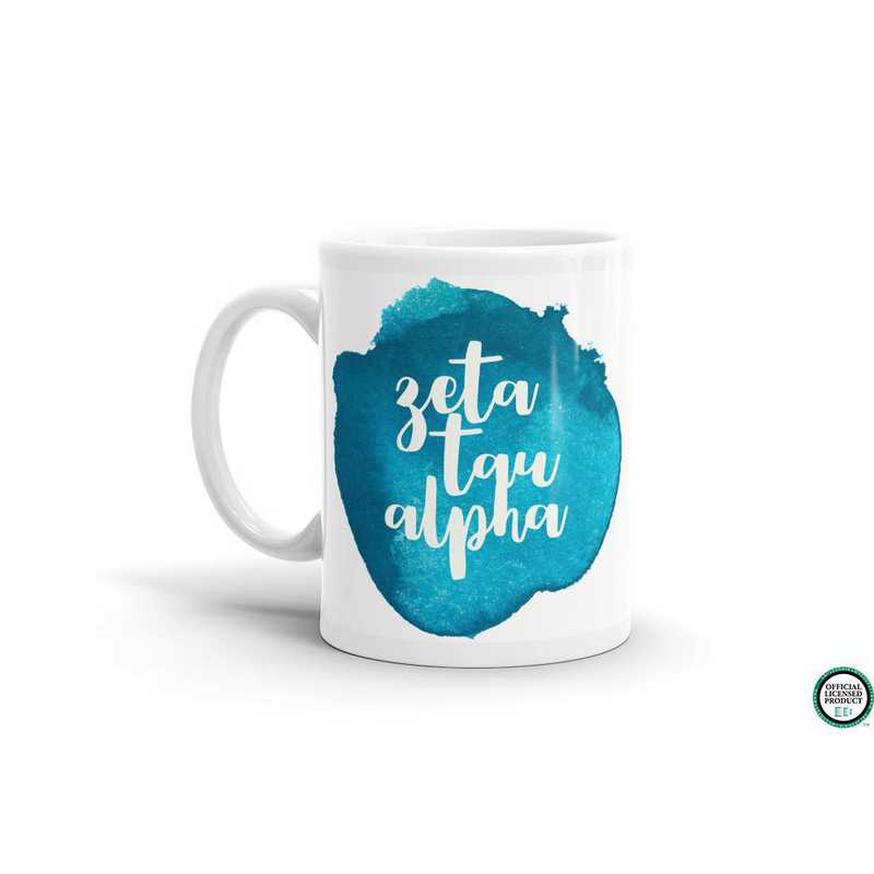 MG057: TS Zeta Tau Alpha Water Color Coffee Mug