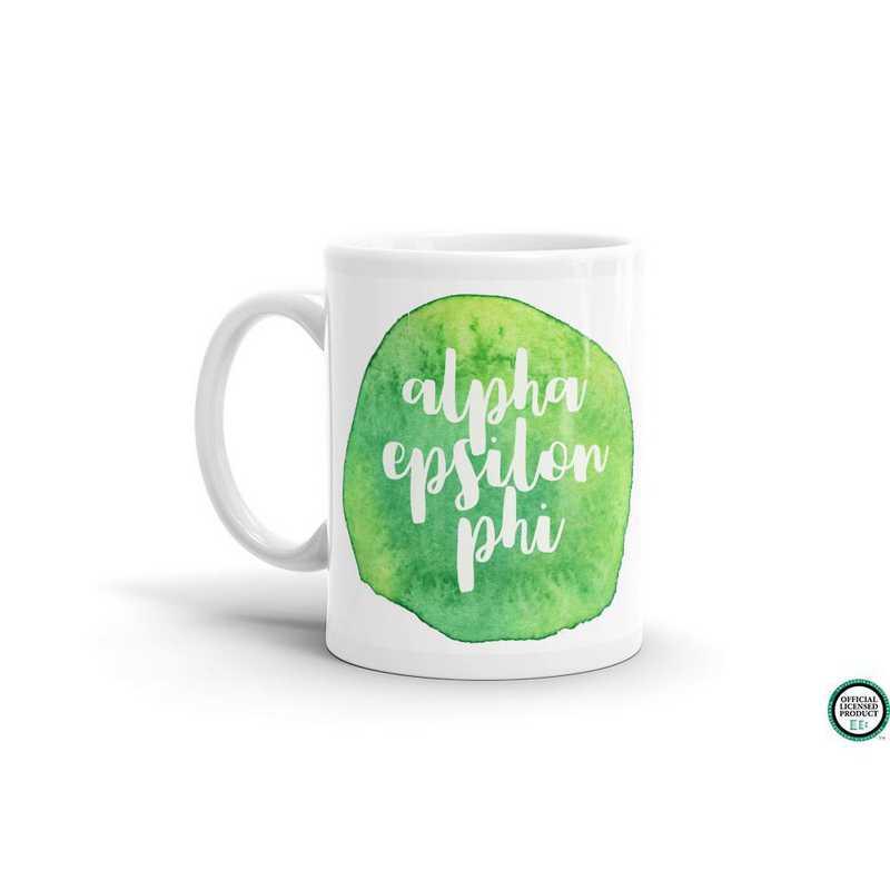 MG058: TS Alpha Epsilon Phi Water Color Coffee Mug