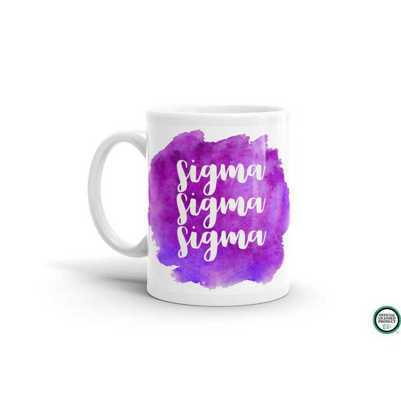 MG065: TS Sigma Sigma Sigma Water Color Coffee Mug