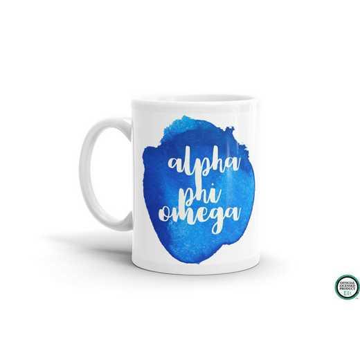 MG067: TS Alpha Phi Omega Water Color Coffee Mug