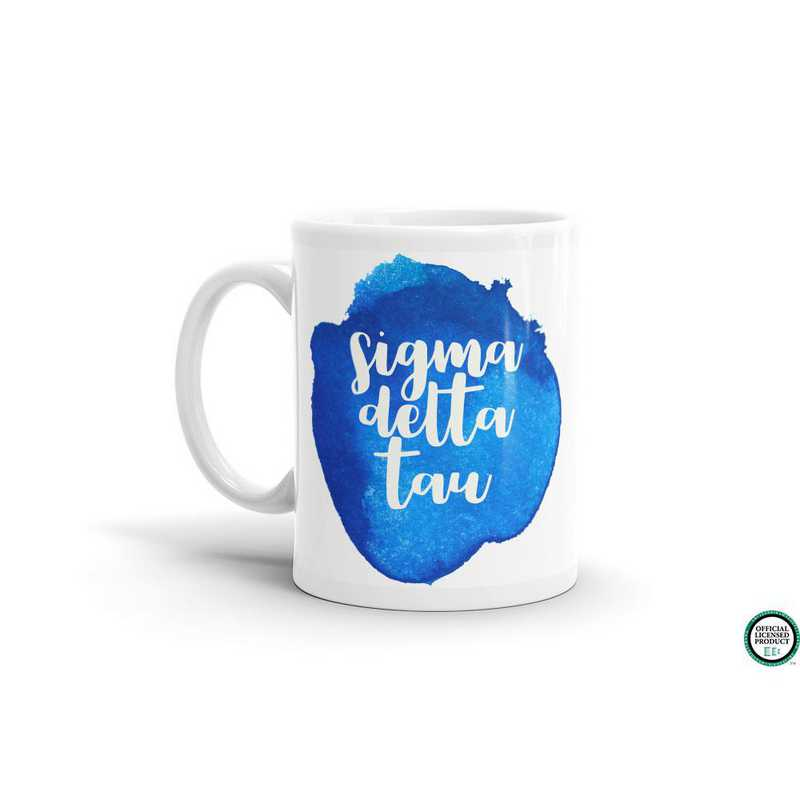 MG070: TS Sigma Delta Tau Water Color Coffee Mug