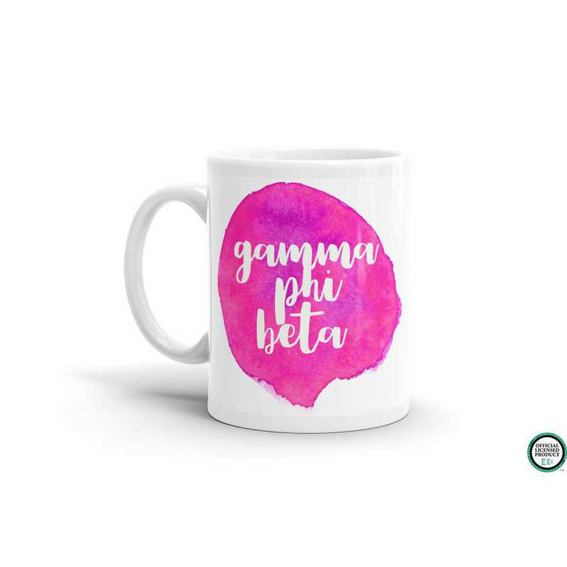 MG072: TS Gamma Phi Beta Water Color Coffee Mug
