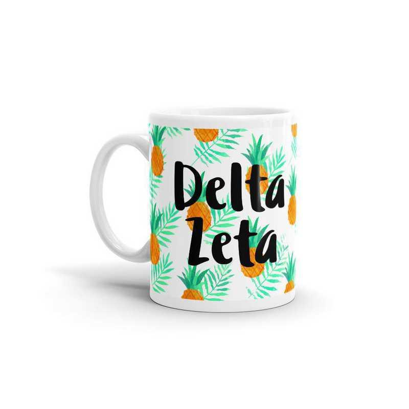 MG108: TS Delta Zeta All Over Pineapple Print Coffee Mug