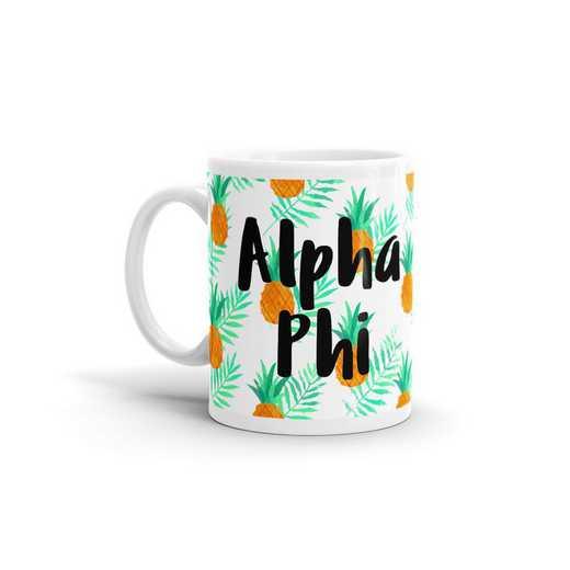 MG111: TS Alpha Phi All Over Pineapple Print Coffee Mug
