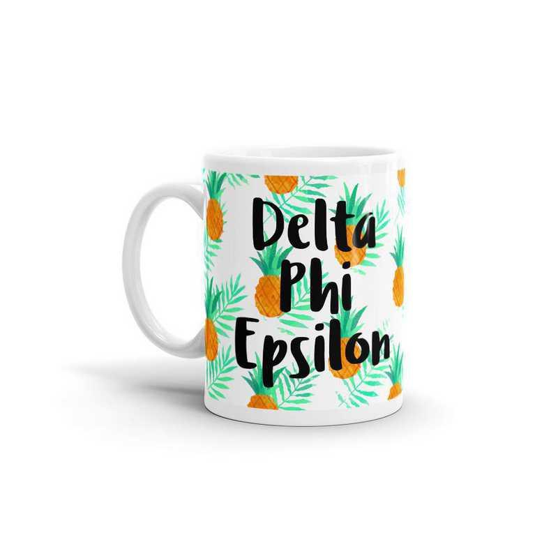 MG120: TS Delta Phi Epsilon All Over Pineapple Print Coffee Mug