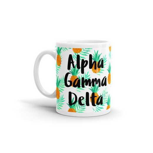 MG127: TS Alpha Gamma Delta All Over Pineapple Print Coffee Mug