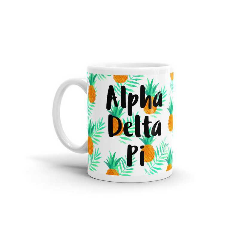 MG129: TS Alpha Delta Pi All Over Pineapple Print Coffee Mug
