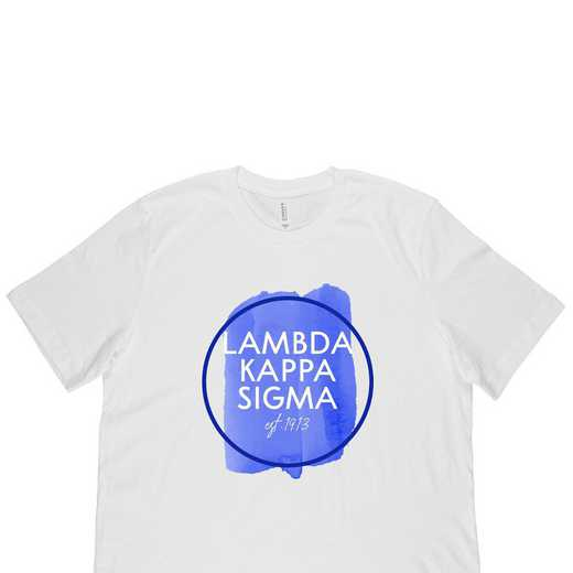 Lambda Kappa Sigma Watercolor Circle-White