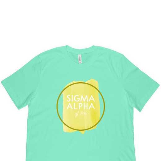 Sigma Alpha Watercolor Circle-Green