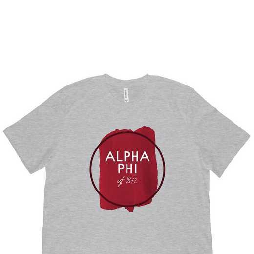 Alpha Phi Watercolor Circle-Gray