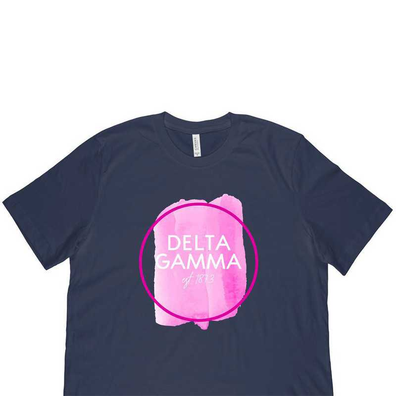 Delta Gamma Watercolor Circle-Blue
