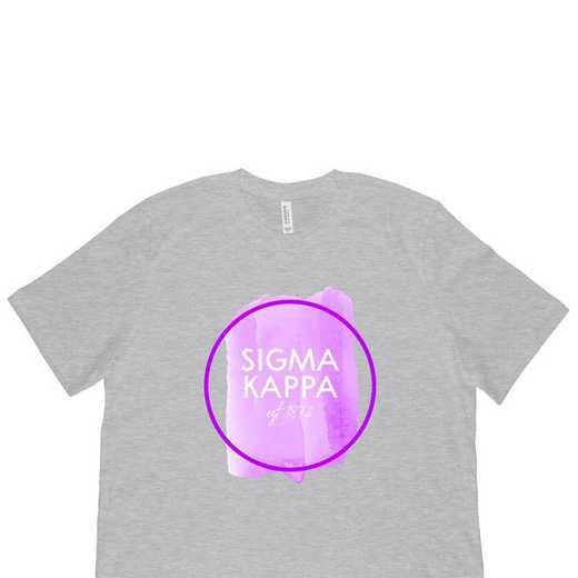 Sigma Kappa Watercolor Circle-White