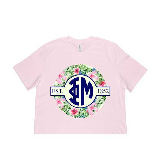 Phi Mu Tropical Hibiscus Circle Seal T-Shirt
