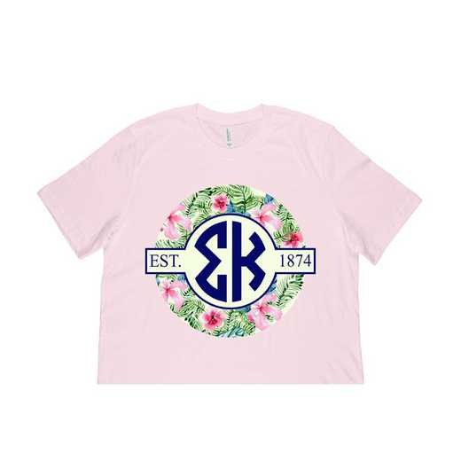 Sigma Kappa Tropical Hibiscus Circle Seal T-Shirt