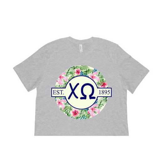 Chi Omega Tropical Hibiscus Circle Seal T-Shirt