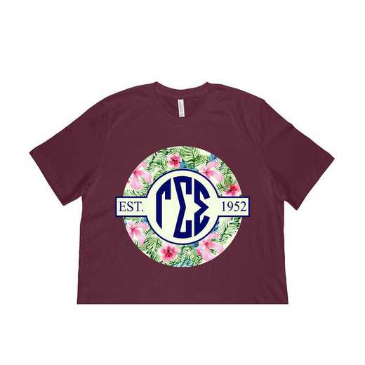 Gamma Sigma Sigma Tropical Hibiscus Circle Seal T-Shirt