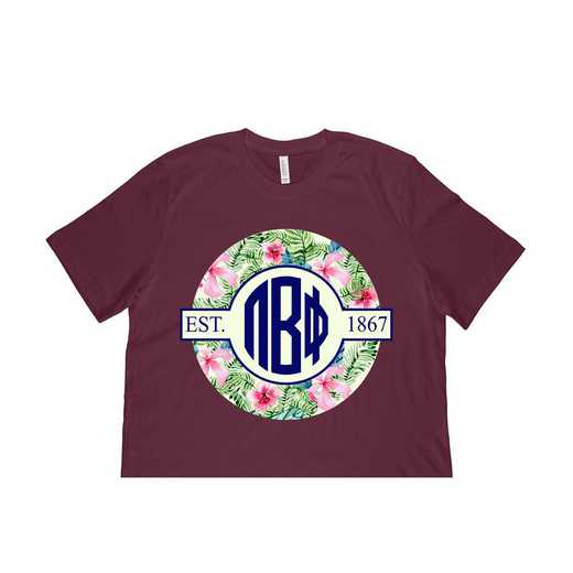 Pi Beta Phi Tropical Hibiscus Circle Seal T-Shirt