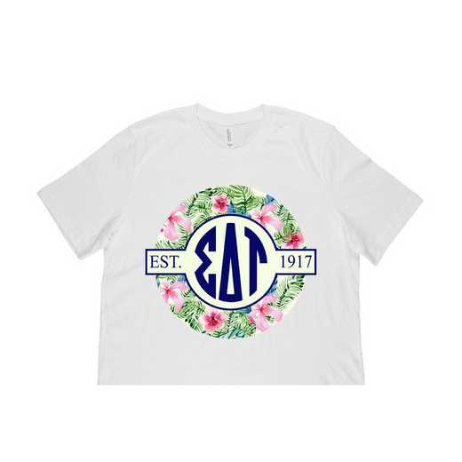 Sigma Delta Tau Tropical Hibiscus Circle Seal T-Shirt