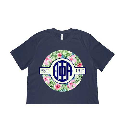 Theta Phi Alpha Tropical Hibiscus Circle Seal T-Shirt