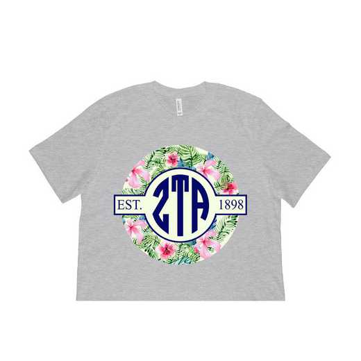 Zeta Tau Alpha Tropical Hibiscus Circle Seal T-Shirt